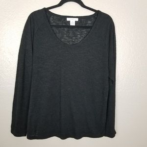Liz Claiborne Hi-Lo Pullover Long Sleeve Sweater